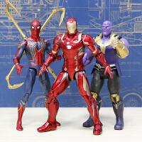 正版漫威复仇者联盟3无限战争蜘蛛侠手办钢铁侠模型玩具复联3灭霸
