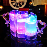 创意情人节生日礼物女生送女友可爱情侣杯子一对水杯套装b. 情侣 爱心发光杯2个装礼盒