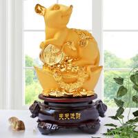 生肖鼠摆件十二生肖翠玉鼠工艺品家居客厅办公室装饰摆设生日礼物