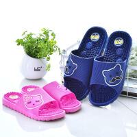 脚底按摩拖鞋男浴室拖鞋女夏室内防滑软底塑料居家足疗鞋