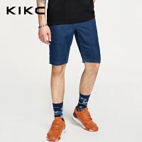 kikc牛仔五分裤男2018夏季新款都市时尚青年帅气休闲短裤男潮裤子