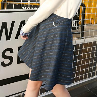 冬装新品 高腰修身半身裙条纹毛呢裙子E743748Q10 发货周期:一般在付款后2-90天左右发货,具体发货时间请以与客服协商的时间为准