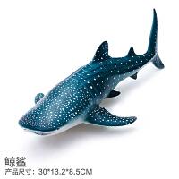 正版仿真海洋生物动物模型玩具儿童益智鲨鱼鲸鱼海豚王企鹅