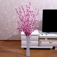 客厅落地假花塑料樱花梅花花树树枝仿真桃花枝绢花干花婚庆装饰