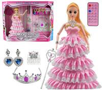 遥控电动会说话的芭芘洋娃娃套装公主智能巴比女孩故事机跳舞玩具