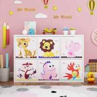 实木玩具收纳柜儿童书柜书架幼儿园储物柜格子柜自由组合定制定做