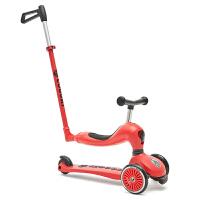 儿童滑板车3轮二合一多功能平衡折叠踏板车2-7岁 圣诞 红 三合一