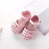 夏季新款儿童鞋子镂空蝴蝶结宝宝凉鞋包头女童