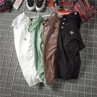 胖人夏季新款翻领短袖polo衫男士加肥加大码韩版修身半袖T恤潮流