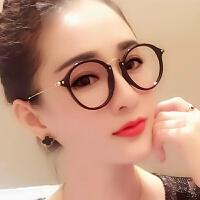 防辐射眼镜女韩版潮复古防蓝光电脑护目镜防近视眼镜框平面眼镜架