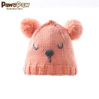 【2件2.5折 到手价:50】Pawinpaw宝英宝卡通小熊童装男女宝宝款卡通针织帽婴幼儿毛线帽
