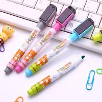 【4支装】得力学生文具 8714白板笔磁性4色 儿童可爱卡通创意可擦白板笔