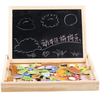 2-3-6岁小孩早教拼图 双面画板 木制儿童磁性拼拼乐玩具