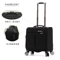 新款牛津布男士拉杆箱18寸商务登机箱万向轮女旅行行李箱子 商务黑 022#