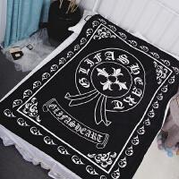 中指贱猫潮牌毯子珊瑚绒盖毯法兰绒毛毯办公室午睡毯法莱绒小毛毯 150cmX200cm