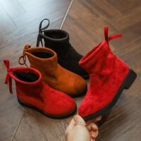 女童靴子2018秋冬新款儿童马丁靴韩版百搭时尚二棉靴子中大童