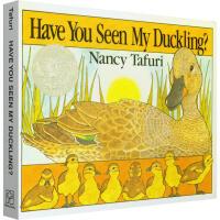 英文原版正版 凯迪克银奖 Have You Seen My Duckling? 撕不破纸板低幼宝宝启蒙故事绘本思维拓展