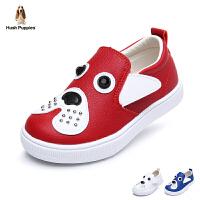 暇步士童鞋2017年新款小狗鞋男女童休闲鞋小童学生鞋经典板鞋 DP9100