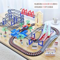 FM拖马斯小火车电动轨道玩具男孩儿童轨道车套装火车男孩子3-5岁6 伦敦高架桥 (赠送8节充 电池+充电器)