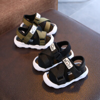 夏季新款男童凉鞋女童露趾沙滩鞋宝宝婴儿学步鞋