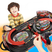 轨道赛车玩具电动遥控儿童男孩双人手摇赛道小汽车套装总动员麦昆