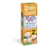 【现货】英文原版 Brain Quest:Grade 2 Math 儿童智力开发系列卡片 2年级数学