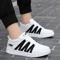 冬季韩版白色板鞋男鞋透气学生潮鞋休闲情侣鞋子男士运动鞋男孩