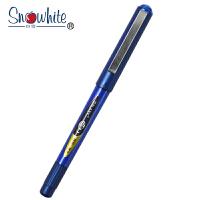 Snowhite白雪 特细耐水走珠笔PVR-155 蓝色0.38mm/3支装 子弹头学生标记考试作业用手账财务中性笔签