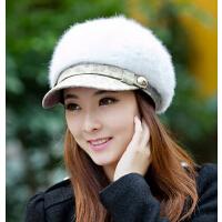 冬季帽子 女 韩版时尚兔毛帽秋冬天女士帽子 潮 可爱针织毛线帽