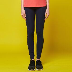 大嘴猴春季新款修身透气下装纯色简约女式运动长裤