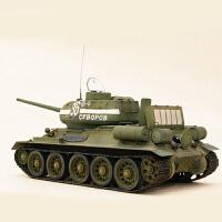 拼装军事坦克模型1/48仿真苏联T34 T85中型坦克(需要自己拼装)
