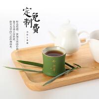 青竹节品茗杯创意功夫陶瓷茶具绿竹子茶杯