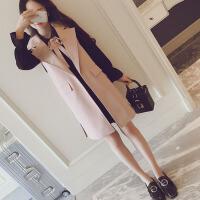 大码女装两件套春秋季新款外套显瘦连衣裙胖mm减龄马甲洋气套装潮 黑连衣裙+粉外套