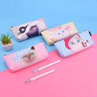 喵咪联盟笔袋个性创意小清新学生女文具用品韩国简约铅笔盒