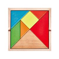 榉木质七巧板拼图儿童玩具男女孩小学生2-3-4-6周岁