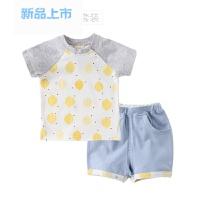 婴儿短袖套装夏装季纯棉儿童0-1-2-3岁薄款半袖短裤男女宝宝衣服