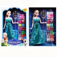 冰雪奇缘娃娃爱莎公主玩具安娜套装艾莎娃娃女孩玩具爱沙单个 12关节 艾莎公主礼品装