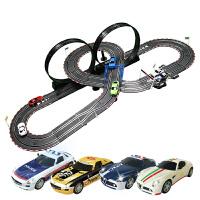 比赛轨道赛车儿童小跑汽车玩具竞速路轨赛车轨道电动遥控
