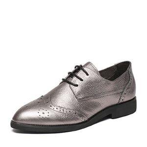 Belle/百丽2017春专柜同款时尚英伦荔纹牛皮女单鞋BNP20AM7