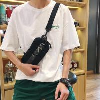 包包男生斜挎包帆布潮流韩版2018新款男胸包单肩休闲百搭学生小包
