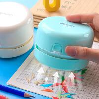 得力桌面吸尘器便携学生电动小型usb自动清理橡皮擦铅笔屑清洁器迷你桌上小型可充电微型清理神器键盘吸屑机