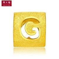 周大福 G字母转运珠黄金吊坠(工费:48计价)F189550