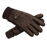 皮手套男士冬季骑行猪皮手套触屏户外骑车摩托车
