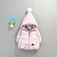 6-12个月女宝宝加绒棉袄0女童冬季1羽绒服加厚2婴儿3岁公主潮