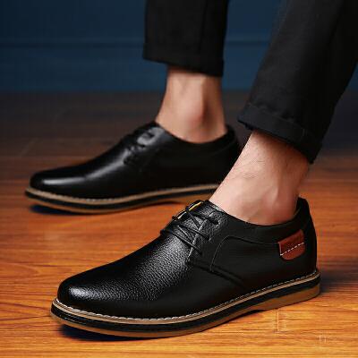 夏秋季男士休闲皮鞋英伦风小皮鞋男透气男鞋子青年鞋男潮鞋低帮鞋