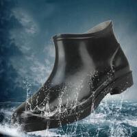 厨师厨房水鞋春夏季防滑时尚防水低帮成人胶鞋雨鞋短筒男中筒雨靴