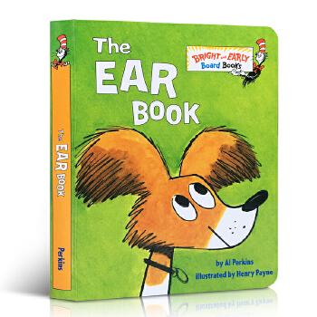 英文原版 The Ear Book 耳朵书 苏斯博士 Dr. Seuss 低幼儿童基础感官声音与耳朵英语阅读启蒙读物纸板书 撕不烂