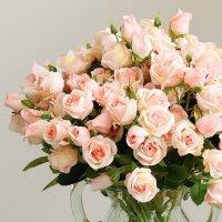 小清新仿真玫瑰花 客厅卧室假花绢花插花家居餐桌干花花束装饰品
