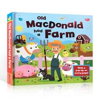 【全店300减100】英文原版 Old Macdonald had a farm 立体书 老麦克唐纳有个农场绘本 可折叠