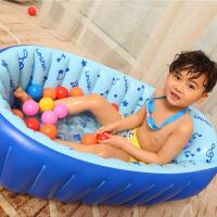 乐亲 婴儿浴盆 大白加厚婴幼儿童洗澡盆 宝宝充气浴盆游泳池 戏水池